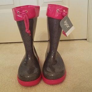 NWT Made in Spain Igor Little Girls Rain Boots.